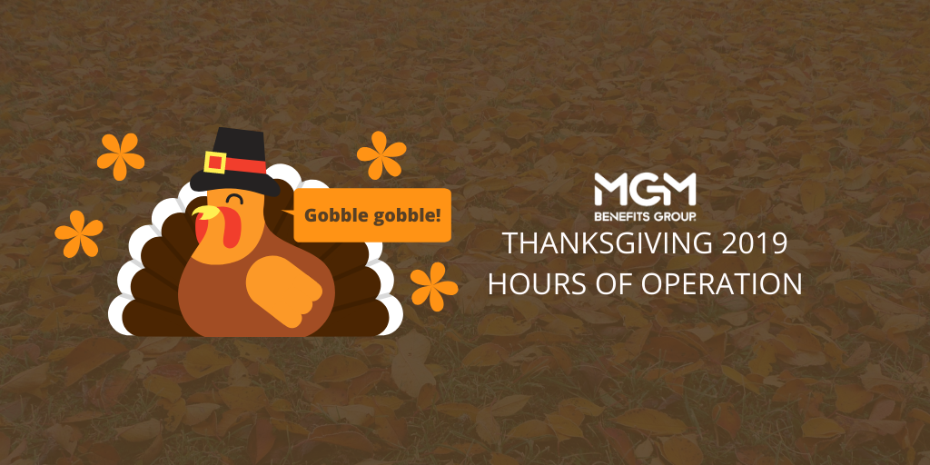 Thanksgiving 2019 Holiday Hours of Operation Announced